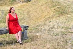 sBs_1907(vac1)_8830-2 (schoolartBYschoolboy) Tags: charentemaritime grass woman mag glamour dress red bench