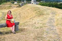 sBs_1907(vac1)_8827-2 (schoolartBYschoolboy) Tags: charentemaritime grass woman mag glamour dress red bench