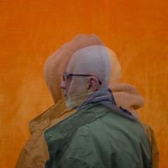 Den (No Great Hurry) Tags: den tatemodern robinmauricebarr nogreathurry people doubleexposure x100f orange square fujifilm portrait profile creative creativeportraiture man friend sideview hoodie person
