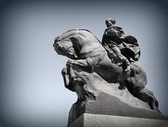 Garibaldi a Savona (fotomie2009) Tags: sculpture scultura statua monument monumento giuseppe garibaldi savona liguria italy italia tarn desatured vignetting horse cavallo equestre