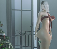 His gift (evolvingengeln) Tags: vanillabae gift christmas bow blonde fameshed kinkyevent sexy hair belleza genusproject truth hot blogger secondlife