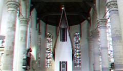 Narrow House by Erwin Wurm Nieuwe-kerk Delft 3D (wim hoppenbrouwers) Tags: narrowhouse erwinwurm nieuwekerk delft 3d anaglyph stereo redcyan art kunst huis smal