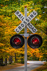 Stop, Look, and Listen (FotoFloridian) Tags: autumn conway crossing direction fallcolors newhampshire nopeople outdoors railroad road roadsign sign sony street symbol traffic transportation yellow a6400 alpha dof
