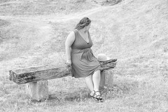 sBs_1907(vac1)_8832-2 (schoolartBYschoolboy) Tags: charentemaritime grass woman mag glamour dress red bench
