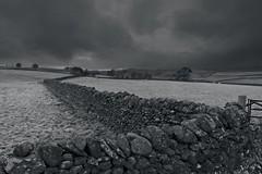 Fields of mono (Nigel Crooks) Tags: ncs longpreston drystonewall clouds on1photoraw2020