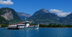Riva del Garda - S. Martino (cnmark) Tags: italy italia trentino rivadelgarda gardasee lake garda lago ponale ship vessel boat smartino schiff see blauer himmel blue sky mountains berge clouds wolken landscape landschaft ©allrightsreserved