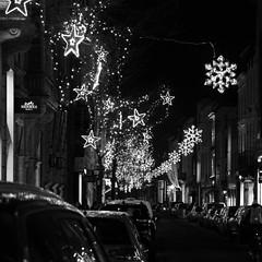 - Starry Street - (Jacqueline ter Haar) Tags: lights street antwerpen winter starry stars