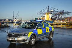 NV19 WHX (S11 AUN) Tags: tees hartlepool harbour cleveland police skoda octavia incident response vehicle irv panda car 999 emergency nv19whx