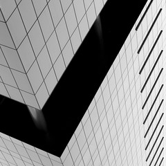 Abstract Architecture (2n2907) Tags: abstract architecture glass office building windows skyscraper graphic geometric geometry pattern lines graphical blackwhite bw