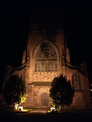 All lit up (daveandlyn1) Tags: holyplace shrewsburyabbey abbeyforegate evening nighttime nightshot psdigitalcamera cameraphone pralx1 p8lite2017 huaweip8 noflash abbey placeofworship
