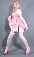 110H6L (klarissakrass) Tags: dirndl pinkdress pumps highheels pinkshoes gurl crossplay xdress gloves sexylegs nylons tranny stockings transgender pinup pink pinkfashion