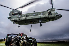 Standing Ready (Floris M. Oosterveld) Tags: chinook helicopter royal netherlands air force photography military aviation chopper boeing koninklijke luchtmacht rotor sling loading lifting heavy deelen base training machine division schnelle krafte luchtmobiel brigade cooperation germany