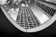 LaDalle Paris13 (Pascal Nedjar) Tags: architecture graphic perspective immeuble builiding paris bnw blackandwhite bw noiretblanc