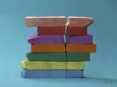 colored chalks (Antonio Iacobelli (Jacobson-2012)) Tags: colored cracks crepe bricks chalks wall bari fujifilm gfx50r mediumformat