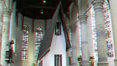 Narrow House by Erwin Wurm in Oude Kerk Delft 3D (wim hoppenbrouwers) Tags: narrowhouse erwinwurm nieuwekerk delft 3d anaglyph stereo redcyan art kunst smallhuis kerk temporary