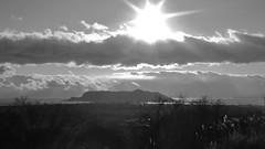 光降り注ぐ~downpour of light (hironimir10) Tags: 函館 函館山 モノクロ 白黒写真 hakodate mthakodate bw monochrome monochro landscape 風景 北海道 hokkaido