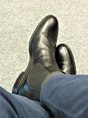 More boots 11 (Adam11051983) Tags: black boot boots chelsea feet foot footwear leather men mens shoe shoes