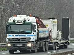 Mercedes-Benz Actros MP3 drawbar from Heckmann Germany. (capelleaandenijssel) Tags: hamhs166 truck trailer lorry camion lkw container