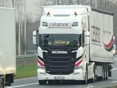 Scania r450 highline from Cebenax Belgium. (capelleaandenijssel) Tags: 1vwt542 truck trailer lorry camion lkw nextgen