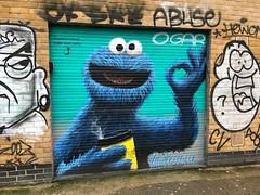 Cookie Monster (Matt From London) Tags: london sesamestreet cookiemonster coffee ok shoreditch