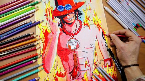 How-to-Draw-Portgas-D.-Ace-from-One-Piece