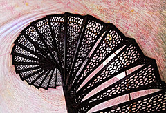 Spiraling Up (Terry Pellmar) Tags: texture digitalart digitalmanipulation photography spiral staircase lighthouse