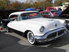1956 Oldsmobile Ninety Eight Holiday (splattergraphics) Tags: 1956 oldsmobile ninetyeight holiday olds 98 olds98 carshow streetsurvivorsofmd veteransappreciationcarshow glenburniemd