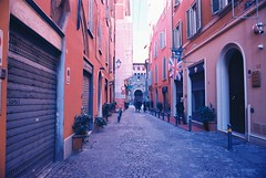 Bologna (goodfella2459) Tags: nikonf4 afnikkor24mmf28dlens kodakektar100 35mm c41 film analog colour italy bologna city streets buildings manilovefilm