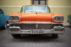 1958 Orange Oldsmobile (ckilger) Tags: leicam10 havanna cuba overgaardworkshop color farbe summiluxm11450asph oldsmobile oldtimer rot orange kühlergrill scheinwerfer