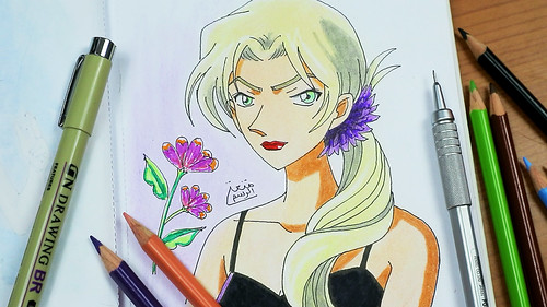 How-to-Draw-Vermouth-Detective-Conan