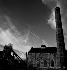 Heritage (stewardsonjp1) Tags: proud heritage bw monochrome blackandwhite roots urban nottinghamshire brick chimney gear winding head pleasley mansfield coal miners pit mine
