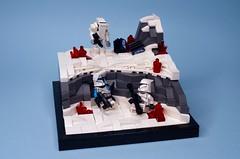Last Resort - Mission 16.2: Destruction of Vandos Prime (N-11 Ordo) Tags: lego starwars legomania legomoc legography legobuild legobuilder legostarwars starwarslego ordobuilds n11ordo sergeantsakana clonetrooper clonewars theclonewars 253rdelitelegion 253rd wandasprime ice snow cyber moc builder bricks legos vignette legovignette cis droids battledroid clone