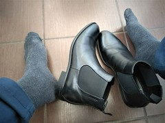More boots 5 (Adam11051983) Tags: black boot boots chelsea feet foot footwear leather men mens shoe shoes sock socks