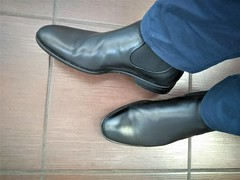 More boots 2 (Adam11051983) Tags: black boot boots chelsea feet foot footwear leather men mens shoe shoes