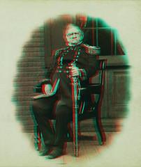Lieut. Gen. Winfield Scott - Circa 1861 (civilwar3dhighdefwidescreen) Tags: 3d 3dcivilwar winfieldscott civilwar lieutenantgeneralwinfieldscott redcyan anaglyph