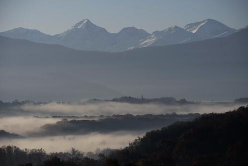 Matin aux pieds des Pyrénées