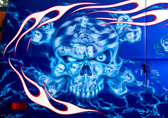 van go... (Stu Bo - Tks for 14 million views) Tags: canonwarrior certifiedcarcrazy kustom skull artisticexpression artist artwork airbrush flames sbimageworks vintage idreamofcarsmotorsandhorsepower icons greatpaint retro faces wildrides