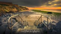 Steps To Walton Beach (Aron Radford Photography) Tags: walton naze sunrsie dawn beach sand sea rocks cliffs steps landscape uk essex east anglia coast