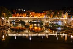 Ponte Vittorio Emanuele II (noel.lionel74) Tags: italie rome nuit pont bridge roma italy night