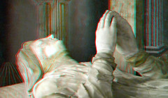 Monument Elisabeth Morgan in de Nieuwe Kerk Delft 3D (wim hoppenbrouwers) Tags: anaglyph stereo redcyan monument nieuwekerk delft 3d monumentelisabethmorgan delft3d elisabethmorgan