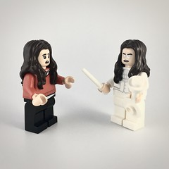 """Vanya: """"Who are you?""""  White Violin: """"I'm you but stronger"""" (theoctopirate_customs) Tags: lego umbrella academy vanya hargreeves white violin custom purist minifigure minifigures afol"""