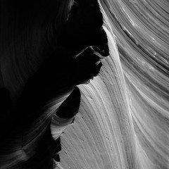 In Canyons 415 (noahbw) Tags: az antelopecanyon arizona d5000 dof lowerantelopecanyon nikon abstract blackwhite blackandwhite blur bw canyon dark darkness depthoffield desert erosion light lowlight minimal minimalism monochrome natural noahbw quiet rock shadow slotcanyon spring square still stillness stone