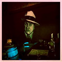 Capone on the wall (DjD-567) Tags: liquor oldschool libations password speakeasy 603 03301 chuck'sbarbershop nh concord bar alcapone