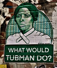 Paste Up. Lower Manhattan. CAPTAIN EYELINER.  Tubman. (Allan Ludwig) Tags: pasteup lowermanhattan captaineyeliner