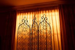 Menacing Window (commontropes) Tags: sonya7rii sony a7rii lensbaby burnside 35mm tungsten orange window blinds diffusion longexposure