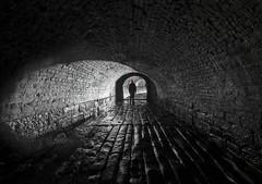 Shatterproof (Camera_Shy.) Tags: underground drain culvert water waterway course brook river bricks manchester uk exploration urban subterranean ue backlight silhouette mono black white monochrome urbex