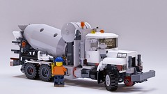 Mack DM Road/Rail Mixer (John D O'Shea) Tags: mack dm road rail concrete mixer construction train truck lego moc