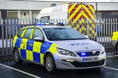 NX65 CRZ (S11 AUN) Tags: tees hartlepool harbour cleveland police peugeot 308 sw estate incident response vehicle irv panda car 999 emergency nx65crz