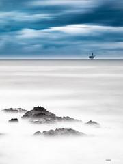 Intermezzo LXXXI (Holger Glaab) Tags: seascape sea longexposure basquecountry oil rig rocks landscape fineart travelphotography travel nature