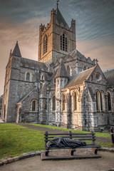 Monk, Sleeping, at Christchurch Cathedral. (dmoon1) Tags: sony rx100m3 dublin christchurch cathedral medieval